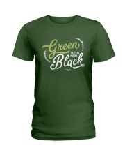 Green is the New Black - White Version Ladies T-Shirt thumbnail
