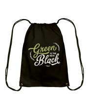 Green is the New Black - White Version Drawstring Bag thumbnail