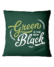 Green is the New Black - White Version Square Pillowcase thumbnail