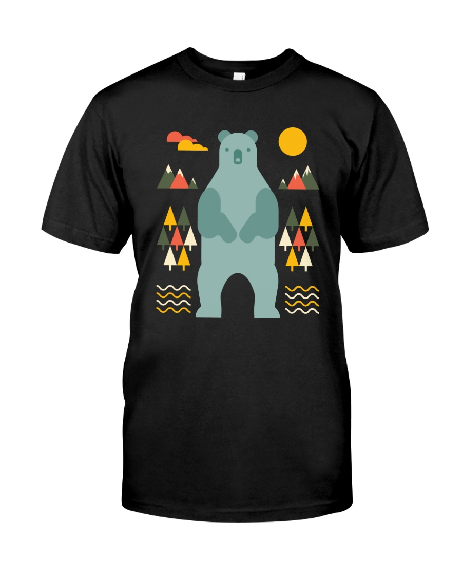 Bear in the Forest Premium Fit Mens Tee