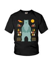 Bear in the Forest Youth T-Shirt thumbnail