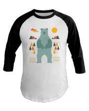 Bear in the Forest Baseball Tee tile
