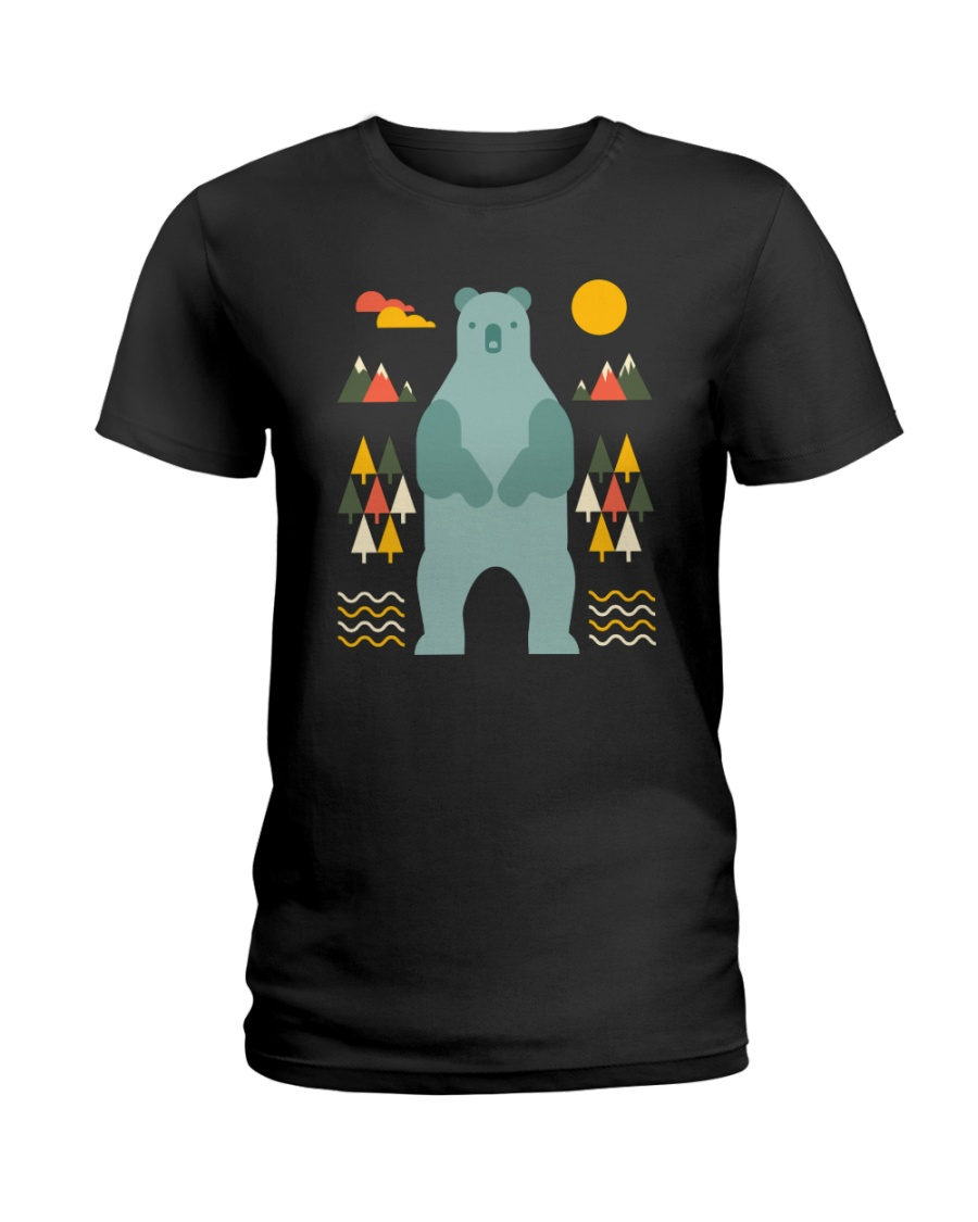 Bear in the Forest Ladies T-Shirt