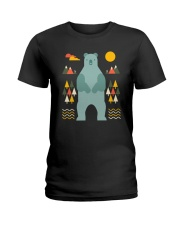 Bear in the Forest Ladies T-Shirt tile