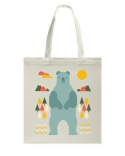 Bear in the Forest Tote Bag thumbnail