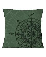 Vintage Compass Square Pillowcase back