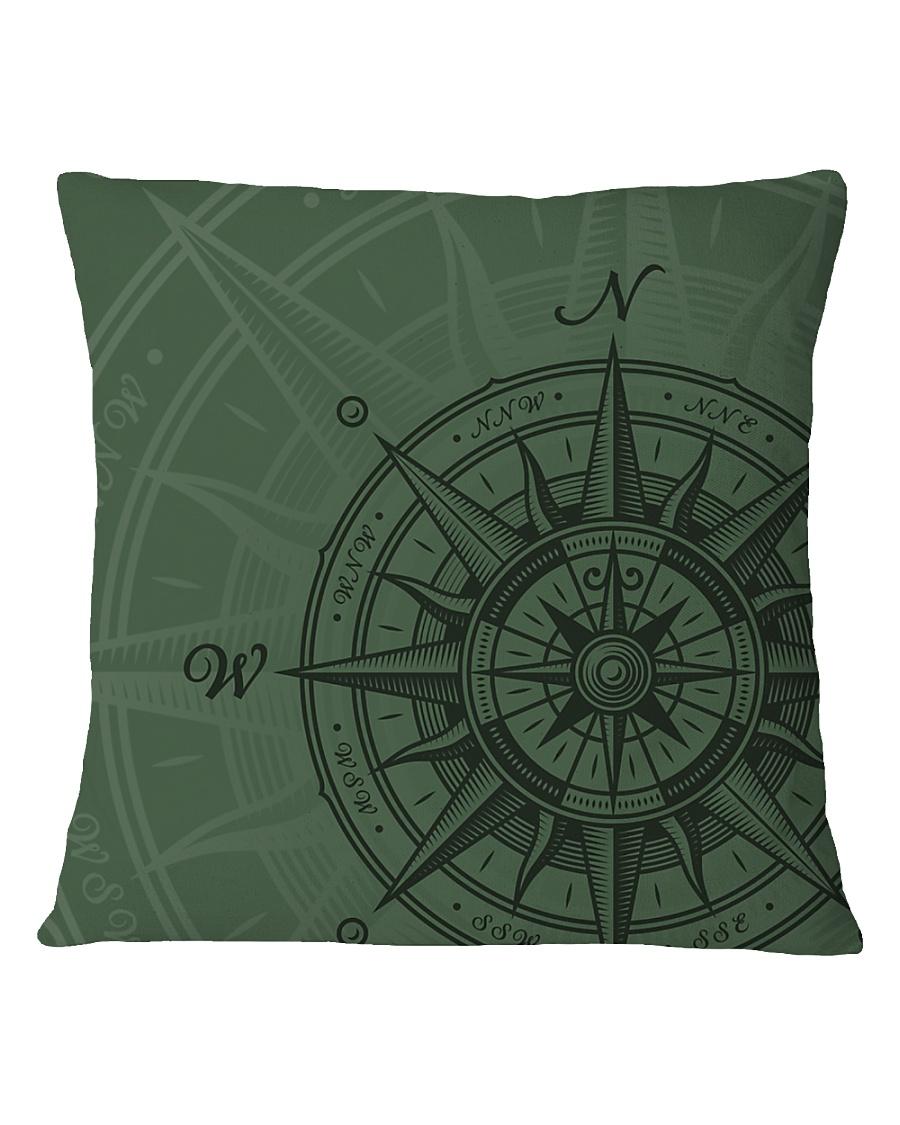 Vintage Compass Square Pillowcase