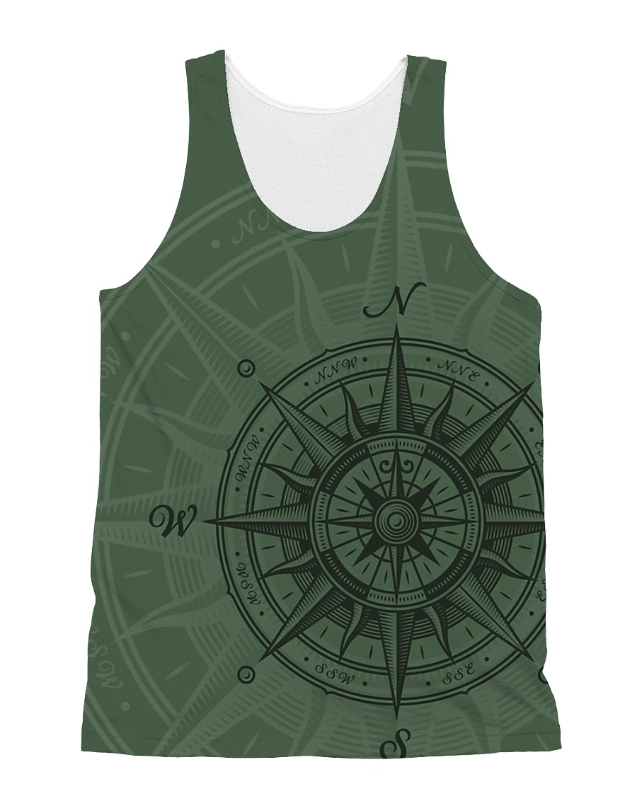 Vintage Compass All-over Unisex Tank
