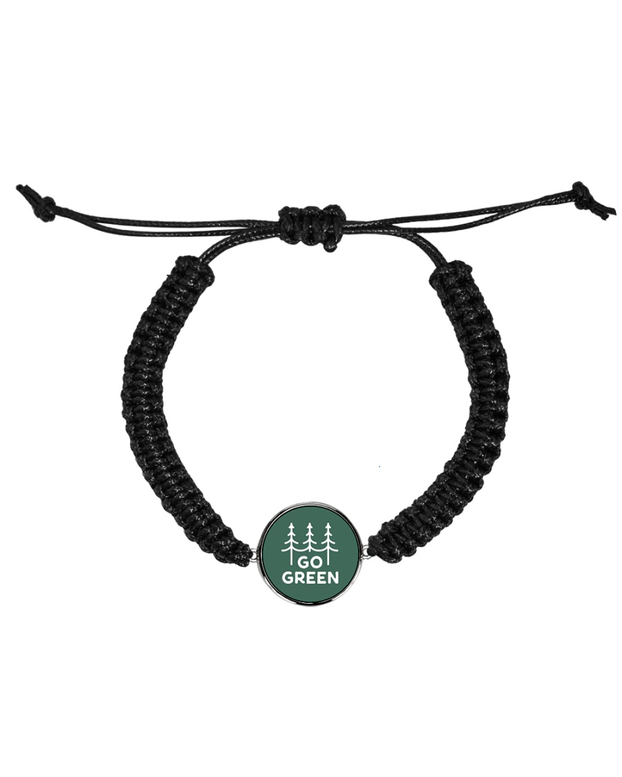Go Green Cord Circle Bracelet