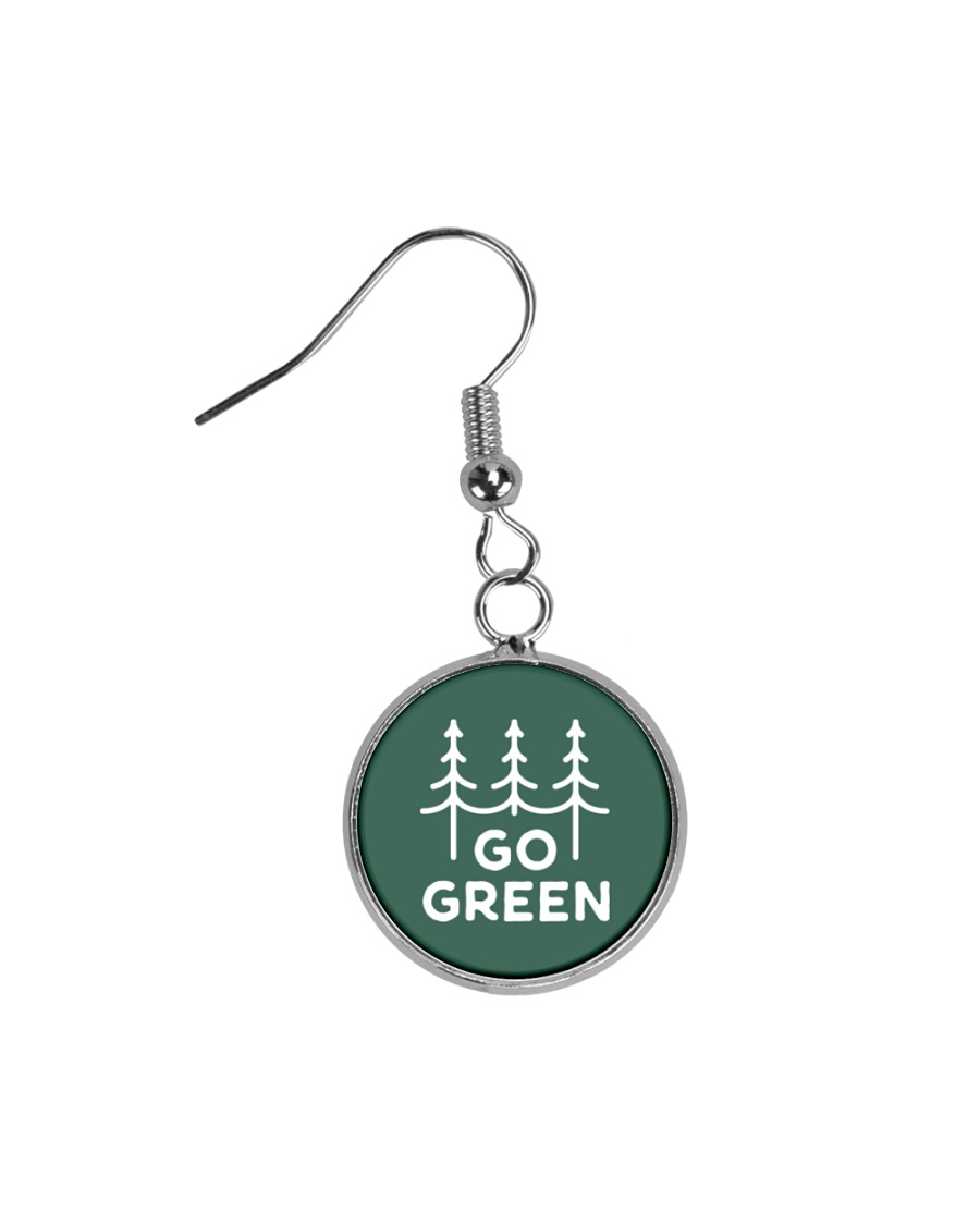 Go Green Circle Earrings