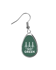 Go Green Teardrop Earrings front
