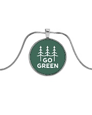Go Green Metallic Circle Necklace thumbnail