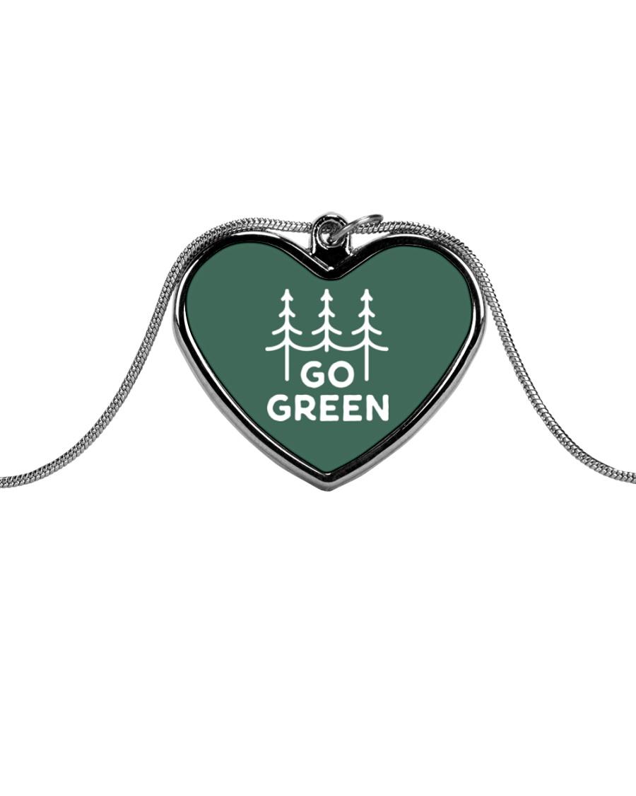 Go Green Metallic Heart Necklace