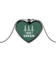 Go Green Metallic Heart Necklace thumbnail