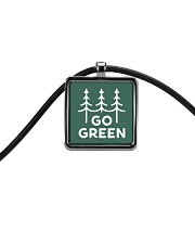 Go Green Cord Rectangle Necklace thumbnail