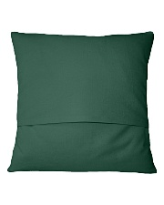 Go Green Square Pillowcase back