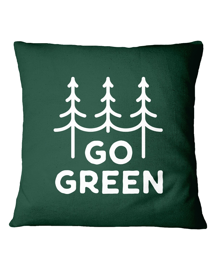 Go Green Square Pillowcase
