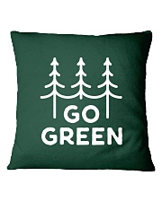 Go Green Square Pillowcase thumbnail