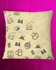 Vintage Hiking Square Pillowcase aos-pillow-square-front-lifestyle-20