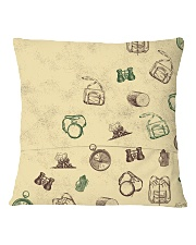 Vintage Hiking Square Pillowcase back