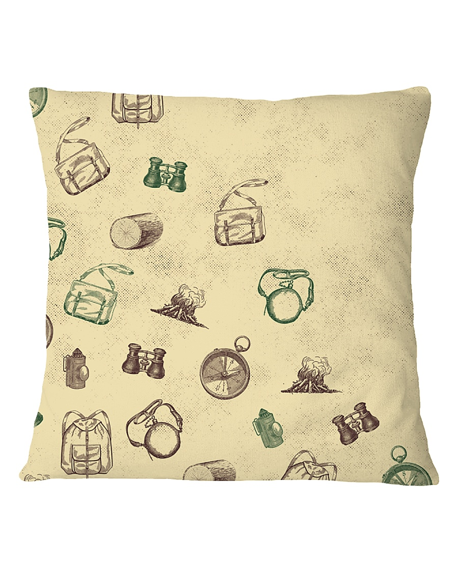 Vintage Hiking Square Pillowcase