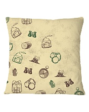 Vintage Hiking Square Pillowcase front
