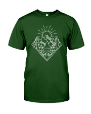 Sun Rising Lineal Art Classic T-Shirt thumbnail