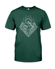 Sun Rising Lineal Art Premium Fit Mens Tee thumbnail