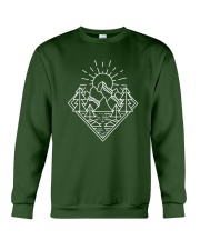 Sun Rising Lineal Art Crewneck Sweatshirt thumbnail
