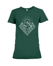 Sun Rising Lineal Art Premium Fit Ladies Tee thumbnail