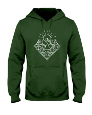 Sun Rising Lineal Art Hooded Sweatshirt thumbnail