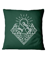 Sun Rising Lineal Art Square Pillowcase thumbnail
