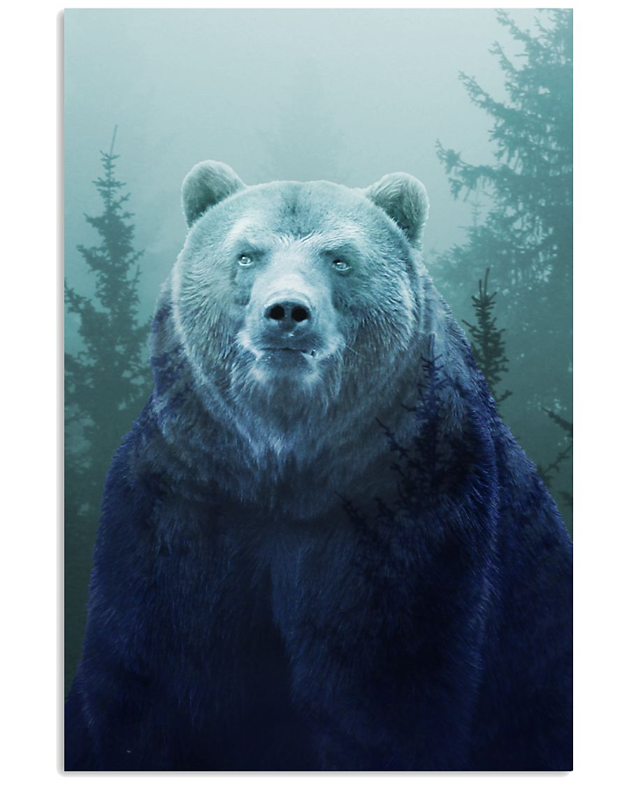 Beautiful Bear in the Forest 16x24 Poster