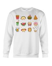Cute Food Characters - Love Food Design Crewneck Sweatshirt thumbnail