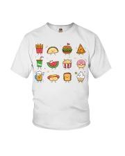 Cute Food Characters - Love Food Design Youth T-Shirt thumbnail