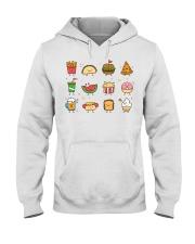 Cute Food Characters - Love Food Design Hooded Sweatshirt thumbnail