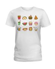 Cute Food Characters - Love Food Design Ladies T-Shirt thumbnail