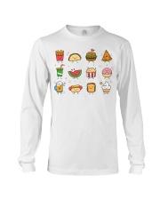 Cute Food Characters - Love Food Design Long Sleeve Tee thumbnail