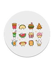 Cute Food Characters - Love Food Design Circle Coaster thumbnail
