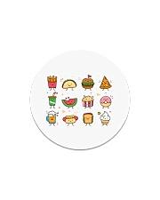 Cute Food Characters - Love Food Design Circle Magnet thumbnail