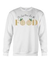 I'm Just Here For The Food - Love Food Crewneck Sweatshirt thumbnail