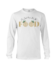 I'm Just Here For The Food - Love Food Long Sleeve Tee front
