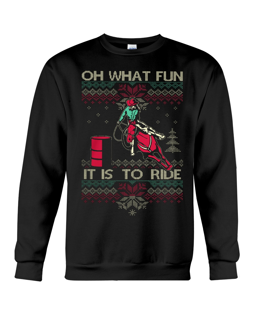BARREL RACING CHRISTMAS Sweater Crewneck Sweatshirt