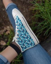 Cute Pattern Limited Edition Women's High Top White Shoes aos-complex-women-white-top-shoes-lifestyle-03