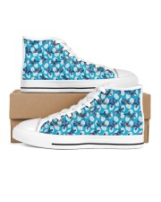 Cute Pattern Limited Edition Women's High Top White Shoes inside-left-outside-left