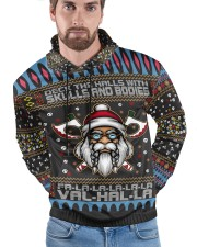 Viking deck the halls with skulls and bodies Men's All Over Print Hoodie aos-complex-men-hoodie-lifestyle-front-13