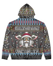 Viking deck the halls with skulls and bodies Men's All Over Print Hoodie back