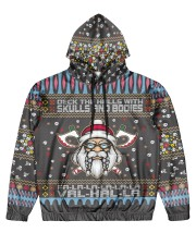 Viking deck the halls with skulls and bodies Men's All Over Print Hoodie front