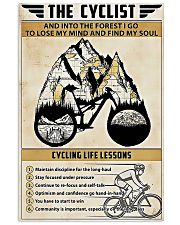The cyclist cycling life lessons poster 11x17 Poster thumbnail