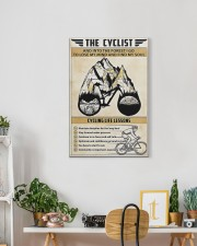 The cyclist cycling life lessons poster 16x24 Gallery Wrapped Canvas Prints aos-canvas-pgw-16x24-lifestyle-front-18